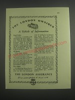 1953 The London Assurance Ad - The London Omnibus a vehicle of information