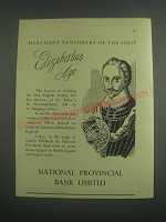 1953 National Provincial Bank Limited Ad - Merchant Venturers of the first
