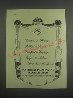 1953 National Provincial Bank Limited Ad - Constant in Homage Faithful in