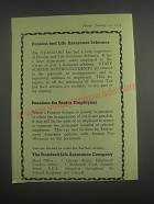 1953 Standard Life Assurance Ad - Pension and Life Assurance Schemes