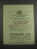 1953 Standard Life Assurance Ad - Ensure a good education for your child