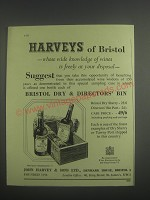 1953 John Harvey Sherry and Port Ad - Harveys of Bristol - whose wide knowledge