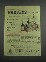 1953 John Harvey Sherry and Port Ad - A new selection of Sherries
