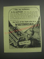 1953 Whitbread Ale Ad - I like my customers to be particular