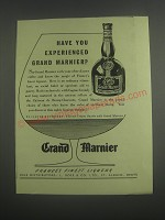 1953 Grand Marnier Liqueur Ad - Have you experienced Grand Marnier?