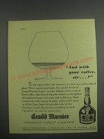 1953 Grand Marnier Liqueur Ad - And with your coffee, sir