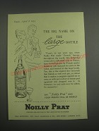 1953 Noilly Prat Vermouth Ad - The big name on the large bottle