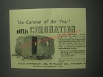 1953 Eccles Coronation Caravan Ad - The Caravan of the year!