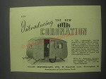 1953 Eccles Coronation Caravan Ad - Introducing the new Eccles Coronation