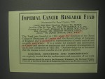 1953 Imperial Cancer Research Fund Ad