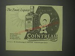 1953 Cointreau Liqueur Advertisement - The finest liqueur at any time