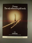 1979 Omega Lady's Watch Ad - The Only Refinement!!