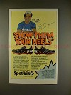 1980 Spot-Bilt Shoes Ad w/ OJ Simpson - Show Them Heels
