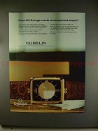 1981 Omega Mystique Watch Ad - A Transparent Watch!!