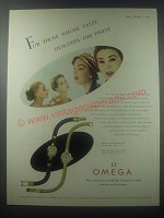 1954 Omega Model 830/C and 850/B Watches Ad - For those whose taste demands