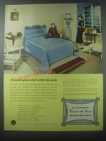 1954 Vantona Court de-luxe Bedcovers Ad - A room peaceful with luxury