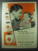 1954 Brylcreem Hairdressing Ad - For the men on the family tree