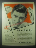 1954 Brylcreem Hairdressing Ad - Brylcreem grooms by surface tension