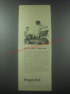 1954 Imperial Typewriter Ad - Ask the typist