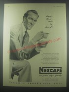 1954 Nescafe Coffee Ad - There's always time for Nescafe