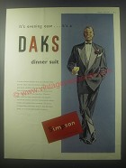 1954 Daks Dinner Suit Ad - It's evening ease.. It's a DAKS dinner suit