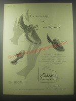 1954 Clarks Country Club Shoes Advertisement - Lunedale, Bredon and Polden