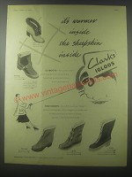1954 Clarks Igloos Boots Advertisement - Pola, Bobsleigh, Norlander, Skilift