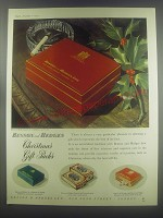 1954 Benson and  Hedges Cigarettes Ad - Christmas Gift Packs