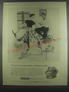 1954 Ronson Queen Anne Lighter Ad - Today's most fashionable wedding present
