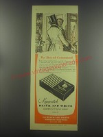 1954 Marcovitch Black and White Cigarettes Ad - By Royal Command