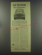 1954 Simoniz Polish Ad - Car polishing what's the cash value?