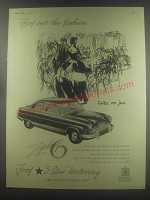 1954 Ford Zephyr 6 Car Advertisement - Ford sets the fashion