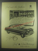 1954 Ford Zephyr 6 Car Ad - Ford sets the fashion