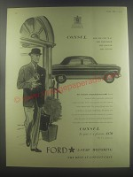 1954 Ford Consul Car Ad - Consul for the city man the traveller the doctor