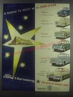 1954 Ford Cars Advertisement - Popular, Anglia, Prefect, Consul, Zephyr, Zodiac