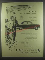 1954 Ford Consul Car Ad - Consul the car for the occasion