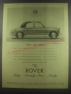 1954 Rover Cars Ad - Pace and quiet