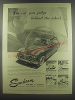 1954 Sunbeam Talbot and Alpine cars Ad - The car you judge behind the wheel
