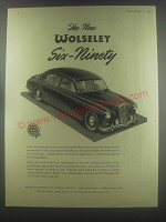 1954 Wolseley Six-Ninety Car Ad - The new Woseley Six-Ninety