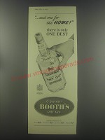 1954 Booth's Dry Gin Advertisement - And one for the home!