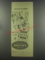 1954 Booth's Dry Gin Advertisement