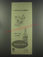 1954 Booth's Dry Gin Ad - one for the home!