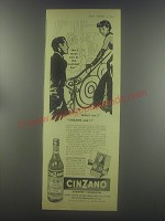 1954 Cinzano Vermouth Ad - We'll meet you in the cocktail bar