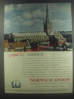 1954 Norwich Union Insurance Advertisement - Norwich Cathedral
