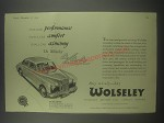 1954 Wolseley 4/44 Car Ad - Fast-car performance family-car comfort small-car