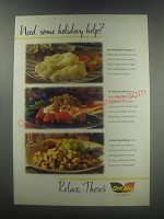 1997 Ore-Ida Advertisement - Mashed Potatoes, Sweet Potatoes and Hash Browns