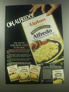 1984 Lipton Deluxe Noodles & Sauce Ad - Oh, Alfredo