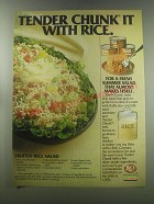 1980 Hormel Tender Chunk Advertisement - recipe for Fruited rice salad