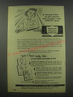 1952 Pequot Percale Sheets Ad - At pleasing brides no gift competes