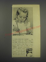 1946 Malt-o-Meal Cereal Ad - I can count now!
